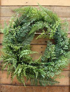Fern Wreath, Front Door Wreath, Wreath, Greenery Wreath, Grapevine Wreath, Year Round Wreath