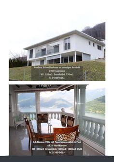 Neubau 3 Familienhaus in Capriasca und Villa in Vico Morcote - Panorama Seeblick.