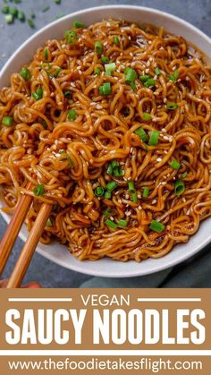 Easy Saucy Ramen Noodles by someone who'd enjoy this bowl! Get the recipe: Easy Saucy Ramen Noodles Vegan Dinner Recipes, Vegan Recipes Easy, Whole Food Recipes, Cooking Recipes, Easy Vegan Food, Healthy Food, Whole30 Recipes, Healthy Desserts, Spicy Food Recipes