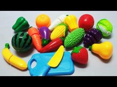 Learn names of fruits and vegetables with toy velcro Learn Colors with Cutting Fruit and Vegetables - YouTube