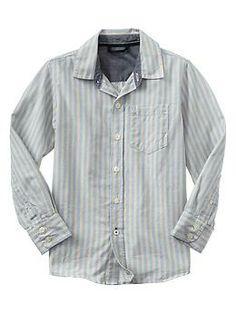 Stripe slub shirt