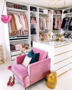 Feminine Walk in closet dressing room