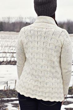 Ravelry: Blowing Snow Cardigan pattern by Emily Ringelman