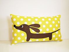 Dachshund Wiener Dog Pillow  Doxie by persnicketypelican on Etsy, $26.50