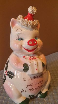 Check out this item in my Etsy shop https://www.etsy.com/listing/487310369/vintage-kreiss-christmas-pig-savings