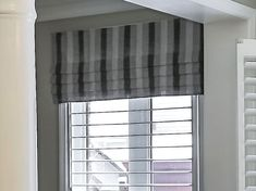 Valances for Living Rooms: 18 Elegant Ideas From Homes Curtains Over Blinds, Faux Blinds, Grey Curtains, Valance Curtains, Window Valances, Black And White Valance, White Blinds, Valances For Living Room, Living Room Windows
