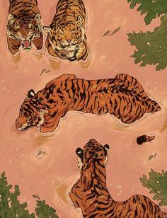 Art And Illustration, Design Illustrations, Fashion Illustration Collage, Animal Illustrations, Pattern Illustration, Art Du Collage, Ouvrages D'art, Wow Art, Art Plastique
