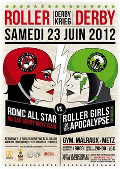 Derby Krieg: RDMC All Star vs Roller Girls of the Apocalypse de Kaiserslautern - Samedi 23 juin à 20h