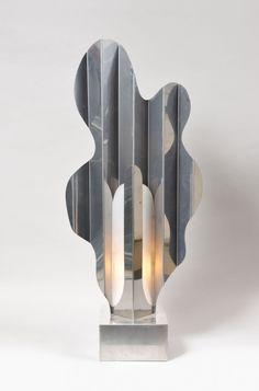 Philippe JEAN - Lampe sculpture, Calande - 1974