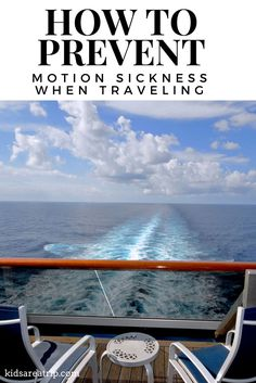 Motion sickness can ruin a vacation, but having a plan in place can help things go smoothly. Here are tips to make sure everything is smooth sailing.-Kids Are A Trip