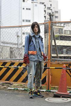 長澤隆太郎 | 日本美容専門学校、オーオシカシカ | #TOKYO #スニーカーブーツ