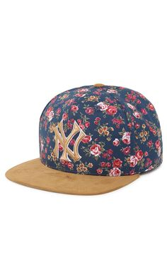 Strapback floral yankees Yankees Hat a17f70edb3c7