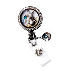 New Sea Shell Charm Star Fish Locket Badge Reel Retractable ID Badge Holder Now @ SIZZLE CITY Shop - Come Visit Us Today!