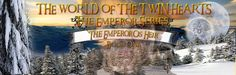 Banner for the first book in The World of the Twin Hearts. for The Emperor Series book one The Emperor's Heir. Coming Soon!
