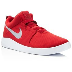 Nike Air Shibusa Slip On Sneakers ($85) ❤ liked on Polyvore featuring men's fashion, men's shoes, men's sneakers, red, mens slipon shoes, mens red sneakers, nike mens shoes, nike mens sneakers and mens red shoes