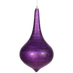 """16"""""""" Purple Matte-Glitter Onion Drop"""