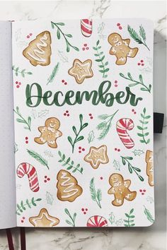 30 best DECEMBER monthly cover ideas to add some festive vibes to your bullet journal! #bujo #bulletjournal #monthlycover #bujoideas