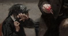 "caravaggista: "" Thomas Eakins, The Gross Clinic (detail), 1875. """