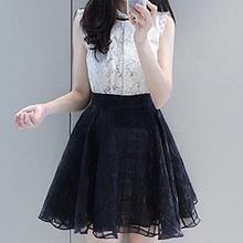 Rocho - Sleeveless Tulle Dress