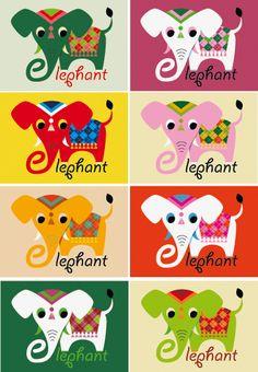 Elephant poster collage. Ingela P Arrhenius