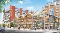 City Planning Commission Backs Arts District Mixed-Use Campus New Urbanism, Mixed Use Development, Los Angeles Neighborhoods, Residential Complex, Adaptive Reuse, Building Design, Commercial, Urban Design, Santa Fe