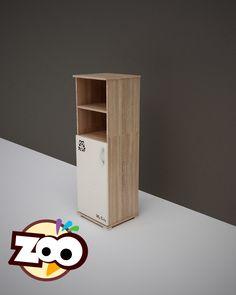 ZOO – keskeny nyitott polcos + 1 ajtós szekrény Floating Shelves, Magazine Rack, Bookcase, Cabinet, Storage, Furniture, Home Decor, Clothes Stand, Purse Storage