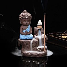 Cheap backflow incense burner, Buy Quality incense burner directly from China home decor Suppliers: Incense Cone Creative Home Decor Zen Buddha Cute Monk Censer Yixing Backflow Incense Burner Home Furnishing Office Decor Burning Incense, Incense Burner, Incense Cones, Incense Sticks, Buddha Zen, Baby Buddha, Chinese Buddha, Buddha Garden, Little Buddha