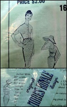 Wiggle dress vintage Modes Royale sewing pattern 1660 size 16 uncut with tag