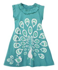 Look at this Wee Urban Teal Peacock Dress - Toddler