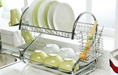 Cheap rack kitchen, Buy Quality rack shelf directly from China rack plates Suppliers: ORZ S-Shaped Dish Rack Set Chrome Stainless Plate Dish Cutlery Cup Rack With Tray Steel Drain Bowl Rack Kitchen Shelf Kitchen Rack, Kitchen Dishes, Kitchen Shelves, Kitchen Storage, Kitchen Dining, Kitchen Sets, Kitchen Utensils, Kitchen Organization, Diy Kitchen