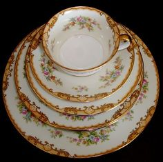 Vintage-Noritake-china-90-PC-Dinnerware-Set-Circa-1933-RARE