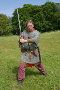 Picture of a Viking warrior in chainmail. Copyright: John Doherty Northern Ireland. With thanks for allowing us to use this picture.