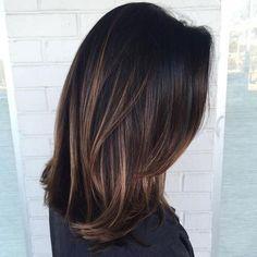 Image result for medium hair straight balayage brown