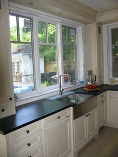 many people make a modern kitchen garden window at their home. Besides, the window is a vital need to have a good circulation of air at home Kitchen Garden Window, Kitchen Sink Window, Garden Windows, Kitchen Cabinets, Kitchen Windows, New Kitchen, Kitchen Dining, Kitchen Decor, Kitchen Ideas