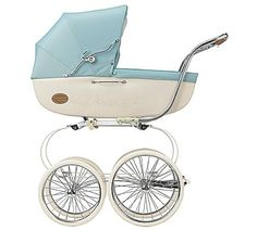 Inglesina Classica Pram With Diaper Bag Celeste - Inglesina Carriages