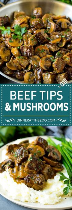 Hypoallergenic Pet Dog Food Items Diet Program Beef Tips With Mushroom Gravy Recipe Steak Tips Whole30 Beef Recipes, Beef Tip Recipes, Crock Pot Recipes, Healthy Beef Recipes, Stew Meat Recipes, Beef Recipes For Dinner, Ground Beef Recipes, Cooking Recipes, Recipes With Beef Tips