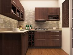 How kitchen furniture considerations affect kitchen's look positively Kitchen Room Design, Kitchen Sets, Kitchen Layout, Kitchen Interior, Kitchen Decor, L Shaped Modular Kitchen, L Shaped Kitchen Designs, New Kitchen Designs, Modern Kitchen Cabinets