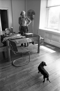 Andy Warhol and dachshund