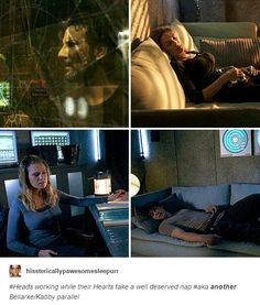 Thank you whoever also noticed this. Bellarke and Kabby parallels