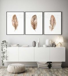 Feather Print SetFeather Wall ArtSet of 3 PrintsLiving room Living Room Canvas Prints, Wall Art Prints, Modern Wall Decor, Room Wall Decor, Feather Wall Decor, Art Above Bed, Or Mat, Photo Wall Art, Picture Wall