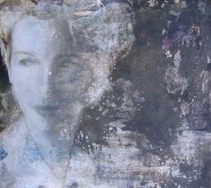 kai Savelsberg - paintings | Galleria Bronda Kai, Artist Names, Painters, Lilac, Patches, Collage, Portraits, Black And White, Detail
