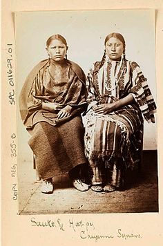 Portrait of Sauke and Hat-Boy , Young Cheyenne Women, in Partial Native Dress Native American Cherokee, Native American Music, Native American Artwork, Native American Women, Native American History, Native American Indians, Native Tattoos, West Art, Native Indian