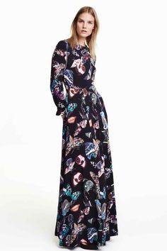 Платье макси с узором | H&M