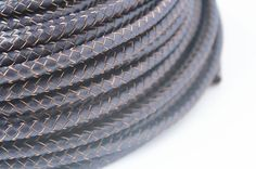 5mm Braided Round Genuine Leather Cord, 3feet Dark Blue Bracelet Leather Cord, Jewelry Findings