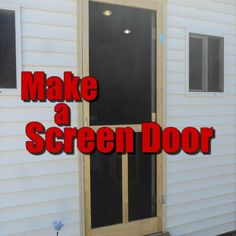 """Remember the old screen door from when you were a kid ? You know the one with the spring that slammed shut and every time it did someone always yelled """" Don't let the door slam !! """" Lol ... Those are great memories. In this episode I show you how to make one of those screen doors, this is a great weekend project and worth a flood of good memories.  www.shavingwoodworkshop.com"""
