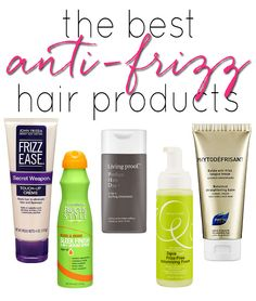 Amazing products to get rid of frizz!