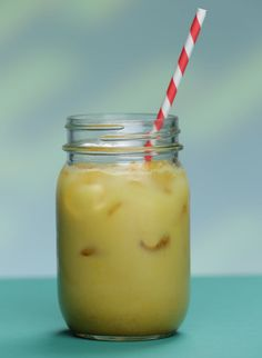 Here's a great new way to get the healthy, healing powers of turmeric into your life: iced golden milk. Great for after a workout since the spice can help ease muscle soreness.
