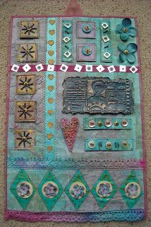 Inspired by Beryl Taylor (again) -wall hanging - Adrienne's Art Garden