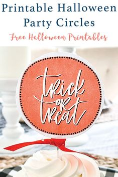 Download these Cute Halloween Printable Party Circles from Everyday Party Magazine are perfect for Halloween treats for ghosts and goblins of all ages! #Halloween #FreePrintable #HalloweenTags #Ghost