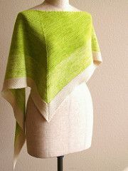 A bicolor gradation kerchief worked with Malabrigo Yarn Lace held double throughout - an easy and delightful project.